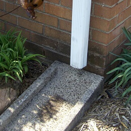 French Drain and Downspout