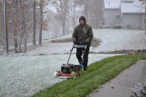 Winter Lawn Mowing