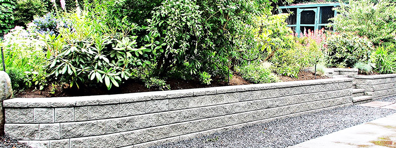 RETAINING WALLS REDUCE MAINTENANCE