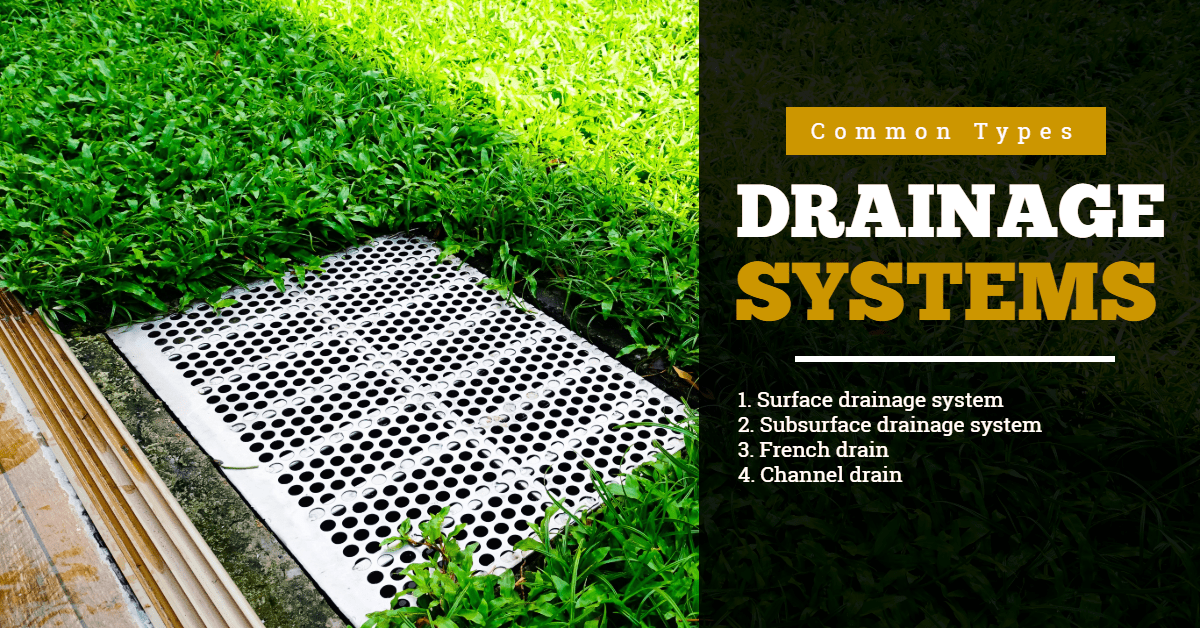 Drainage System for Garden